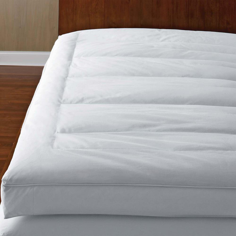 down mattress topper queen The Company Store 5 in. Queen Down Mattress Topper FA32 Q WHITE  down mattress topper queen