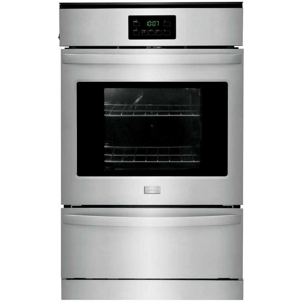 single wall oven frigidaire 24 in single gas wall oven in stainless steel 10738