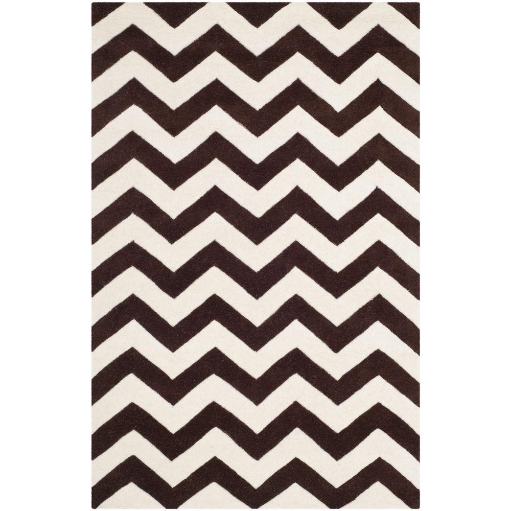 Chatham Brown/Ivory 4 ft. x 6 ft. Area Rug
