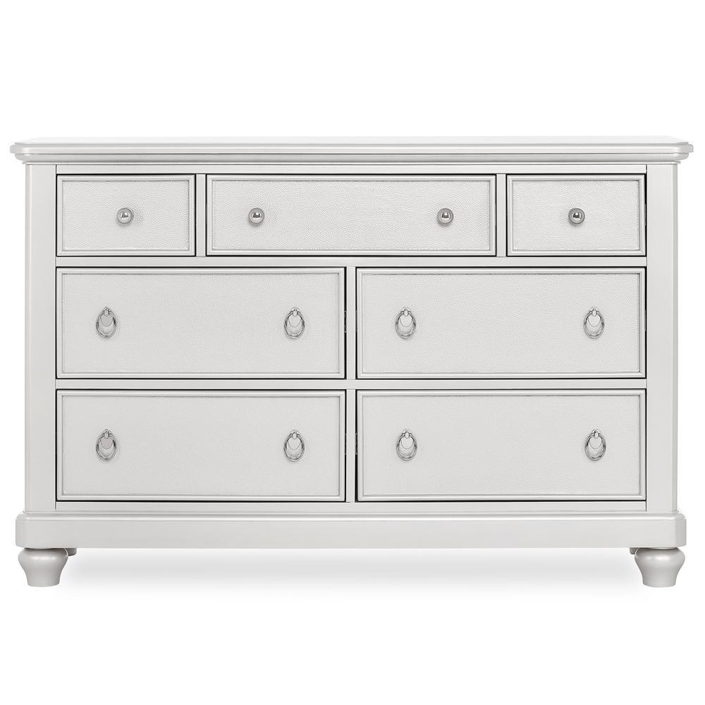 Signature Glam Sliver Pearl 7-Drawers Shimmer Double Dresser