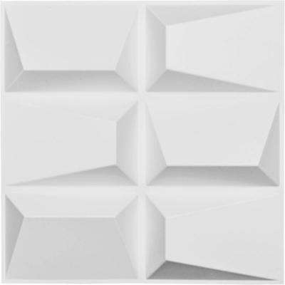 1 in. x 19-5/8 in. x 19-5/8 in. White PVC Stratford EnduraWall Decorative 3D Wall Panel