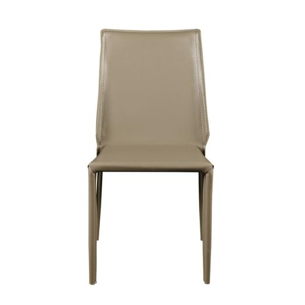 Eurostyle Alder Light Gray Stacking Side Chair (Set of 4) 02387LTGRY