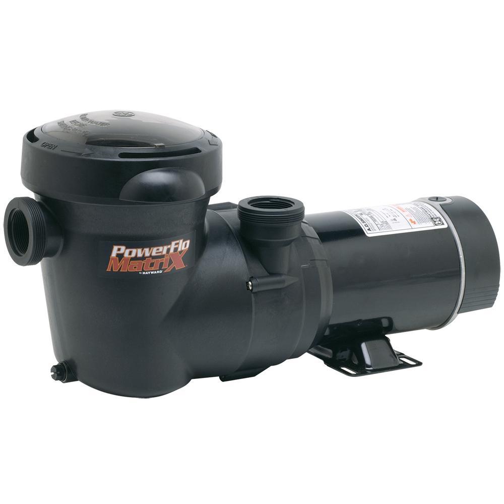 1½ hp PowerFlo Matrix Aboveground Single Speed  Pool Pump
