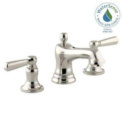 Bancroft 8 in. Widespread 2-Handle Low-Arc Bathroom Faucet in Vibrant Polished Nickel
