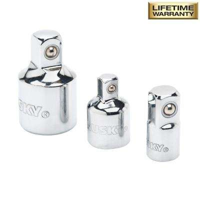 1/4 and 3/8 in. Drive Adapter Set (3-Piece)