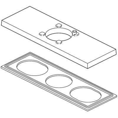 Ara Escutcheon and Gasket for 3-Hole Installations, Stainless
