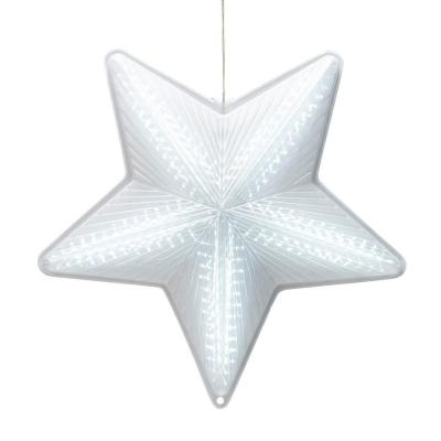 19 in. Tall Christmas 3D Hanging Star Ornament Decoration with LED Lights