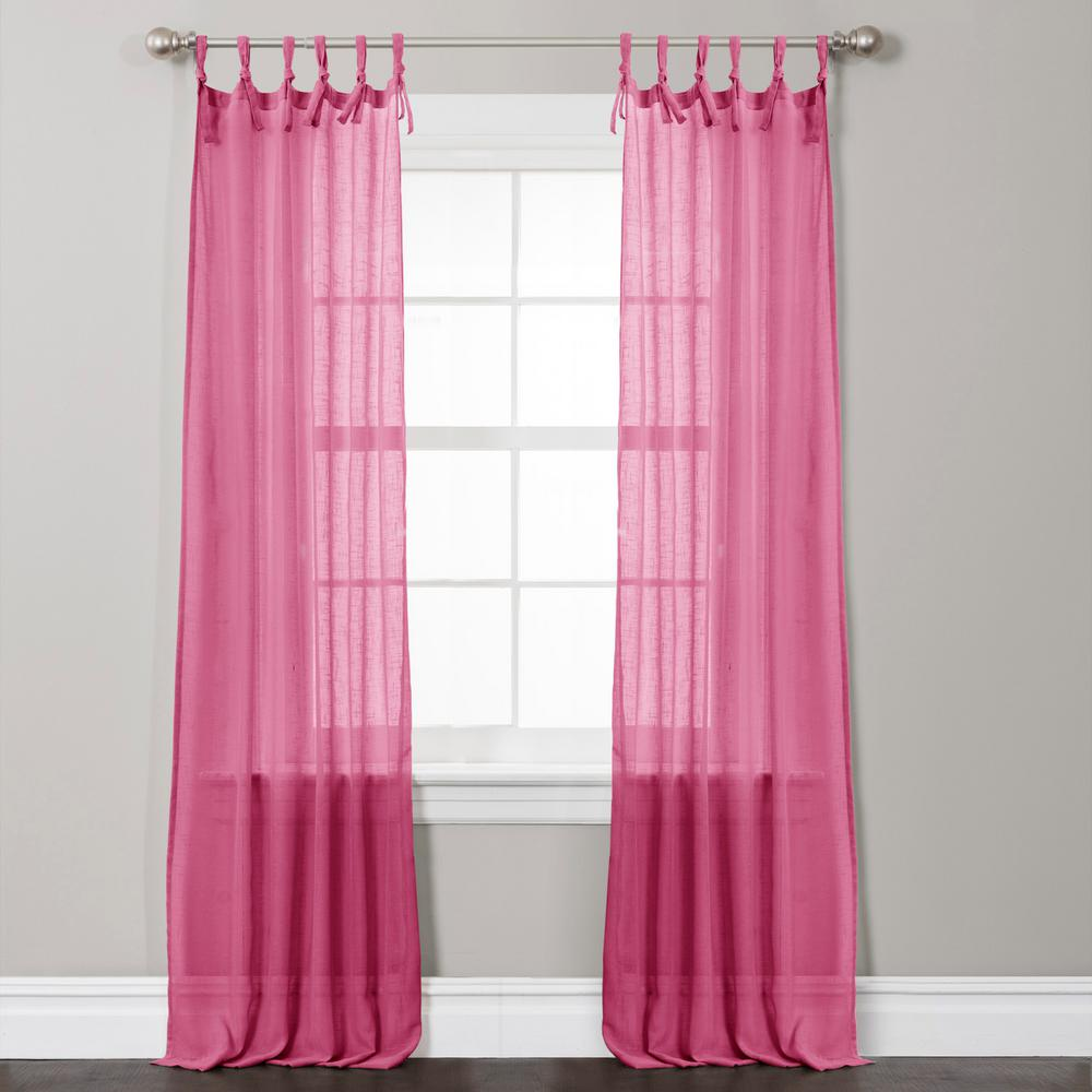 Lush Decor Helena Window Panel In Pink 84 L X 38
