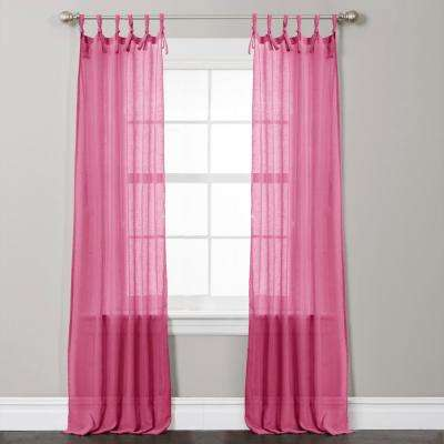 Helena Window Panel in Pink - 84 in. L x 38 in. W (2-Piece)
