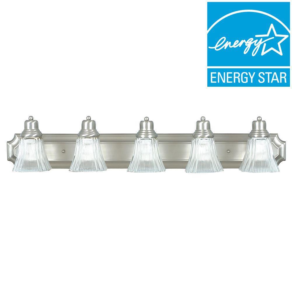Denman 5-Light Satin Nickel Vanity Light