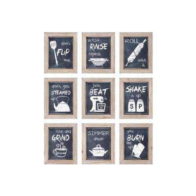 "10.5 in. x 8.5 in. ""Kitchen Inspirations"" 9-Piece Framed Wall Art"