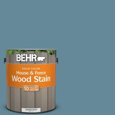 Bic 22 Relaxed Blue Solid Color House And Fence Exterior Wood Stain 01101 The Home Depot