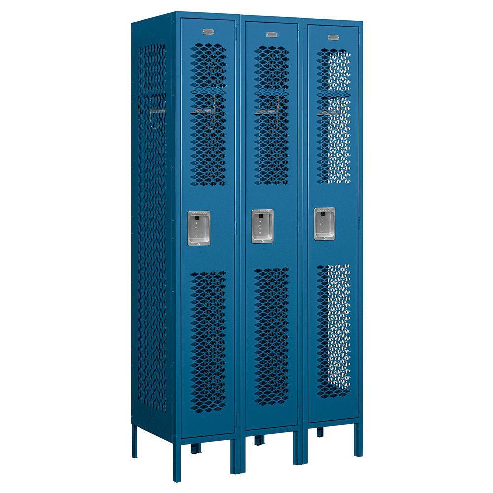 Salsbury Industries 71000 Series 36 in. W x 78 in. H x 18 in. D Single Tier Vented Metal Locker Assembled in Blue