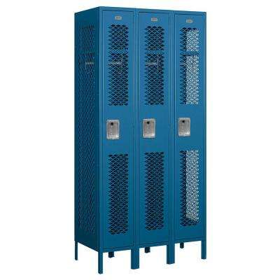 71000 Series 36 in. W x 78 in. H x 18 in. D Single Tier Vented Metal Locker Assembled in Blue