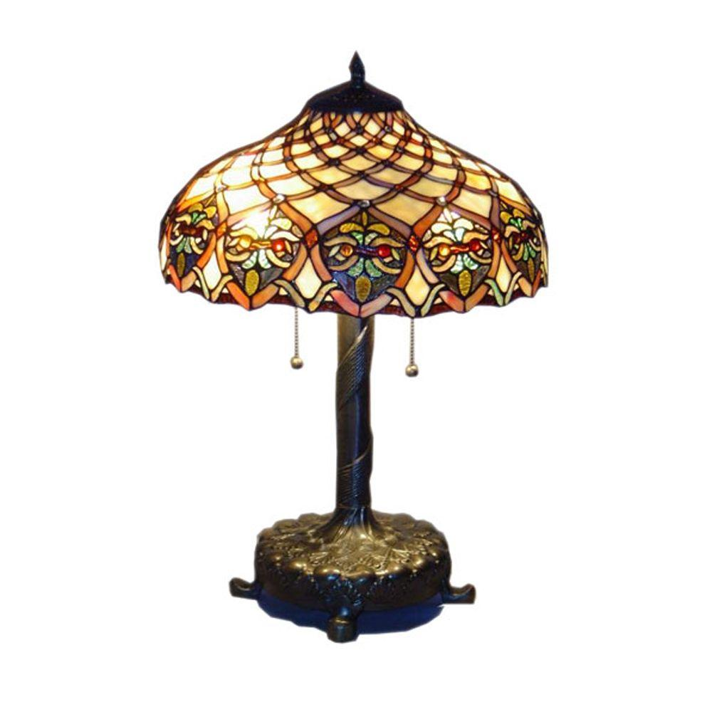 Tiffany Baroque 25 in. Bronze Table Lamp