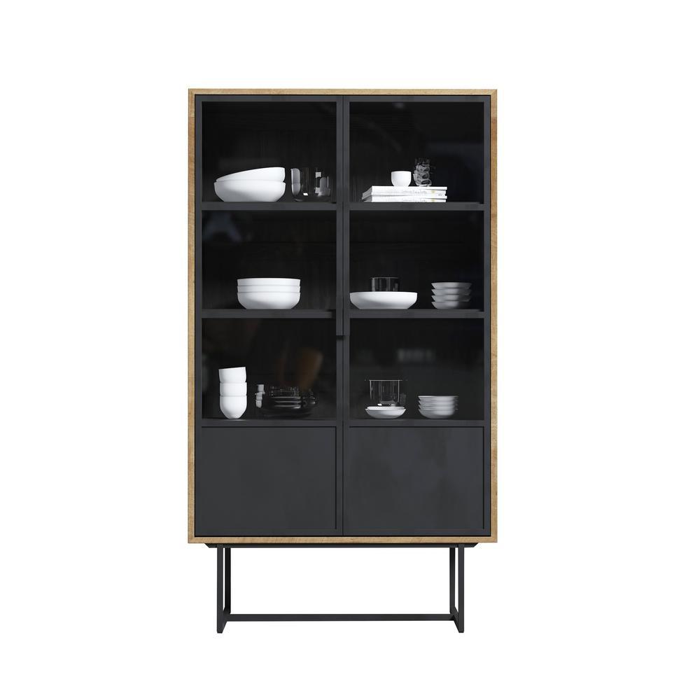 Parisian Factory 71'' x 41'' Display Cabinet Metal Doors