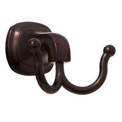 Belding Collection Double Robe Hook in Oil Rubbed Bronze