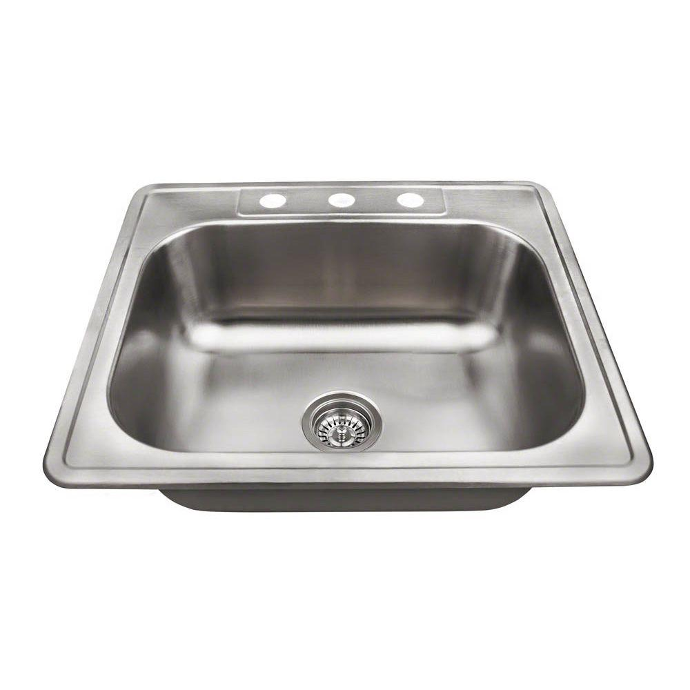 kitchen sinks direct mr direct drop in stainless steel 25 in 3 single 3004