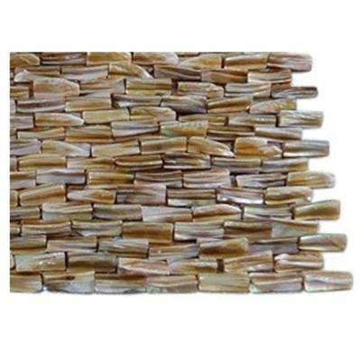 Baroque Pearl 3D Brick Pattern Mosaic - 3 in. x 6 in. Tile Sample