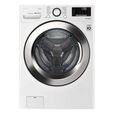 4.5 cu.ft. Ultra Large Capacity White Front Load Washer with Steam and Wi-Fi Enable