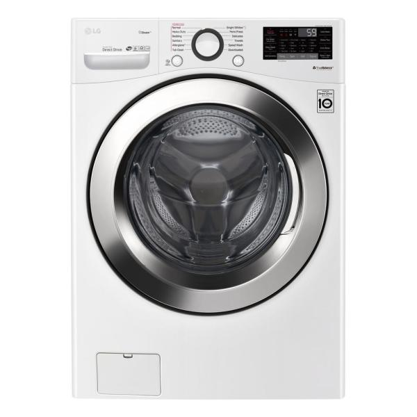 LG WM3700HWA 4.5 cu.ft. Ultra Large Capacity Front Load Washer with Steam and Wi-Fi Connectivity, White