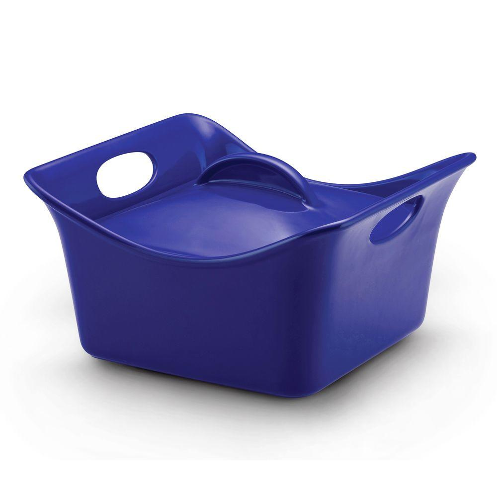 Rachael Ray 3-1/2 qt. Covered Square Casserole in Blue