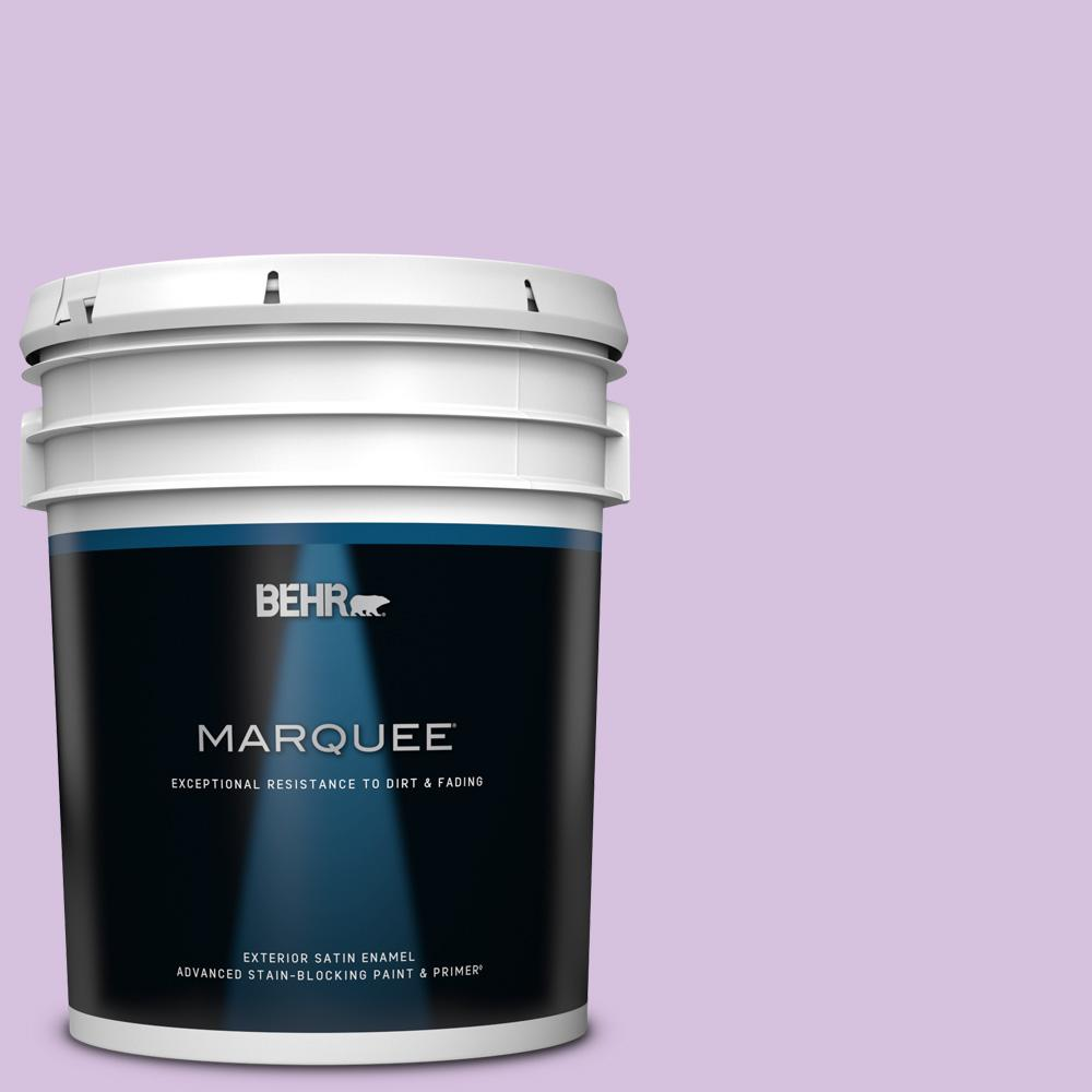 Behr Marquee 5 Gal 660a 3 New Violet Satin Enamel Exterior Paint And Primer In One 945005 The Home Depot