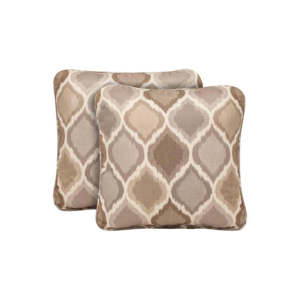 Brown Jordan Marquis Empire Stonehenge Outdoor Throw Pillow (2-Pack)