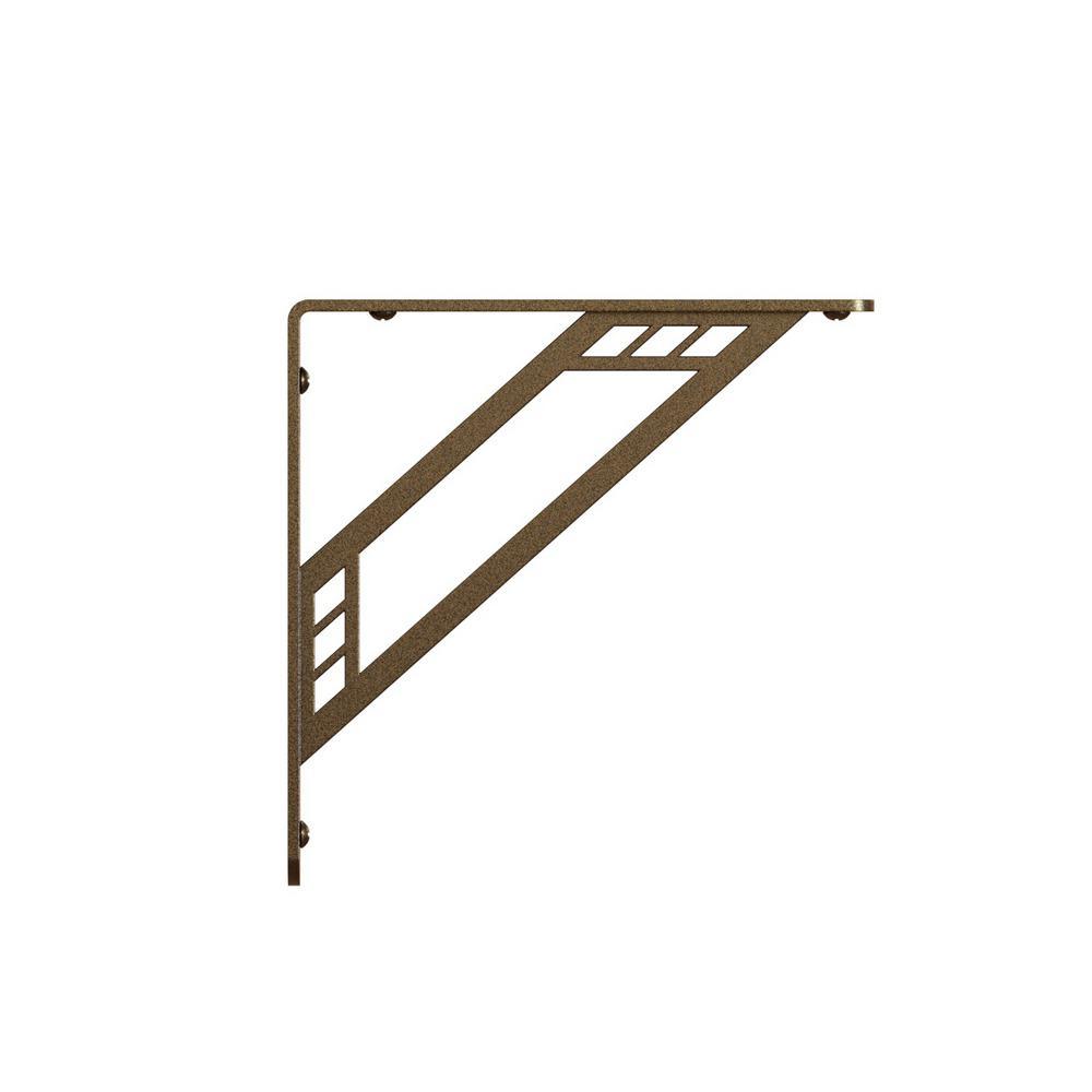 Richland 10 in. L x 1 in. W x 10 in. H Bronze 500 lbs. Steel Decorative Shelf Bracket