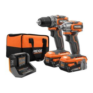 Deals on RidGid 18V SubCompact Drill Driver and Impact Driver w/2 Batteries