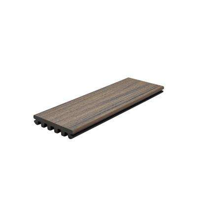 Enhance Naturals 1 in. x 5.5 in. x 16 ft. Coastal Bluff Grooved Edge Capped Composite Decking Board