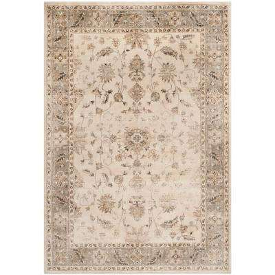 Vintage Stone/Mouse 8 ft. x 11 ft. Area Rug