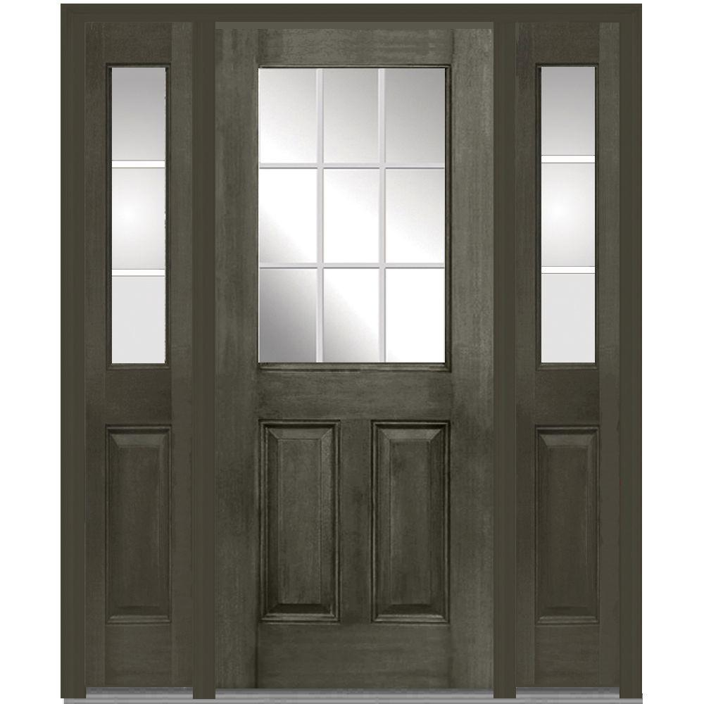 Mmi door 60 in x 80 in gbg right hand 12 lite 2 panel classic mmi door 60 in x 80 in gbg right hand 12 lite 2 panel classic stained fiberglass mahogany prehung front door with sidelites z011165r the home depot rubansaba