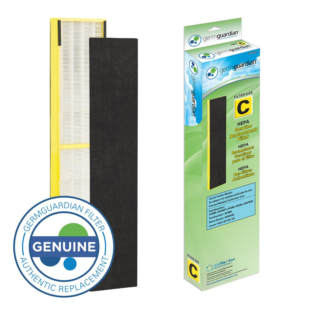 GermGuardian True HEPA GENUINE Replacement Filter C for AC5000 Series Air Purifiers