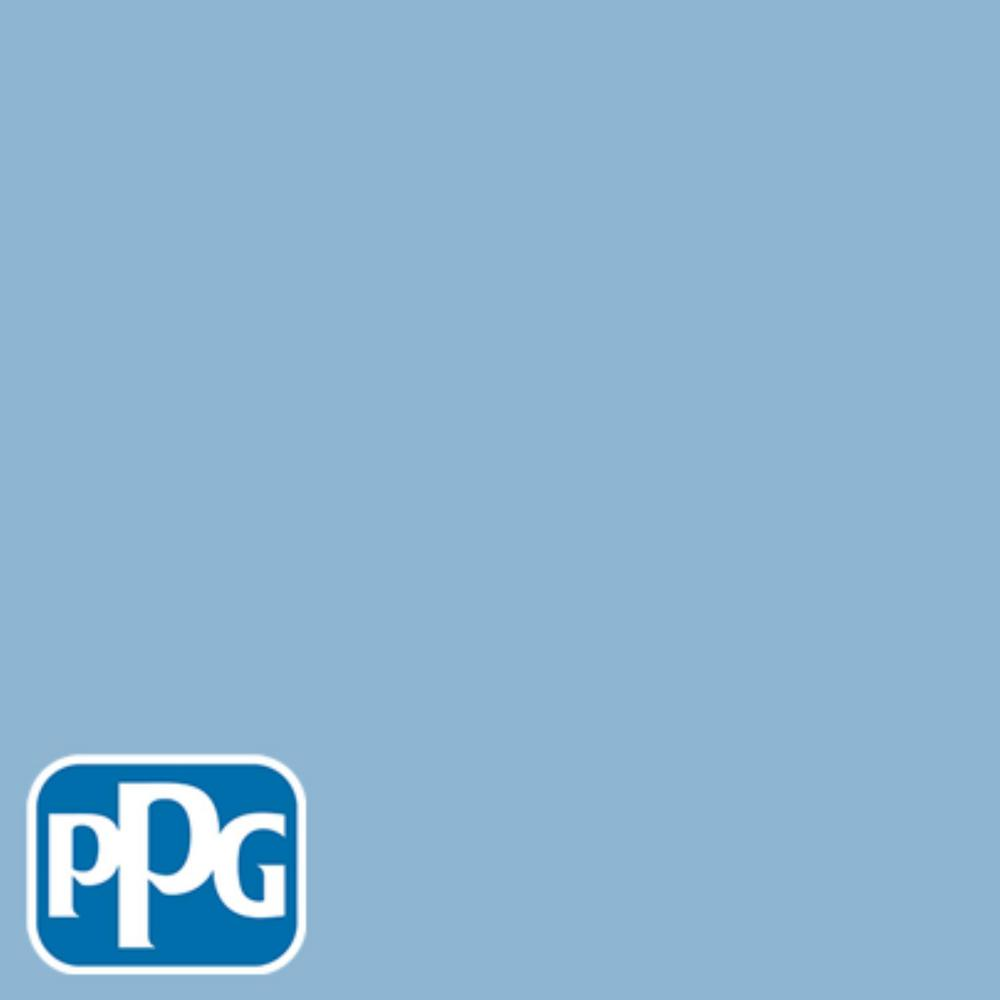 PPG TIMELESS 8 oz. #HDPPGV07 Aristocratic Blue Semi-Gloss Interior/Exterior Paint Sample