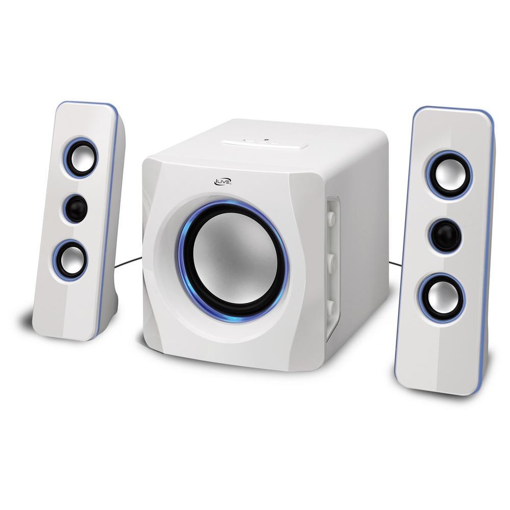 ILIVE Bluetooth Speaker System, White