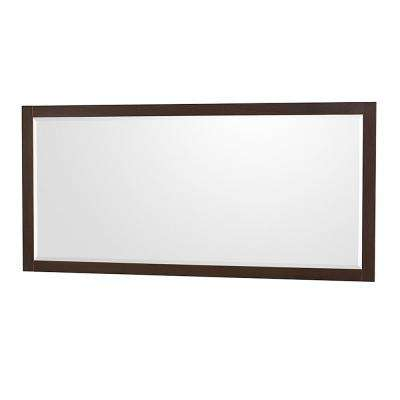 Amare 70 in. W x 33 in. H Framed Wall Mirror in Espresso