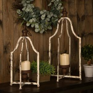 8 in. Small Farmhouse Metal Lantern
