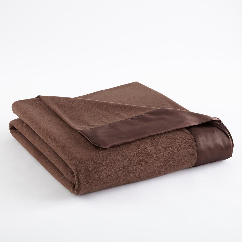 King Chocolate Year Round Polyester Sheet Blanket