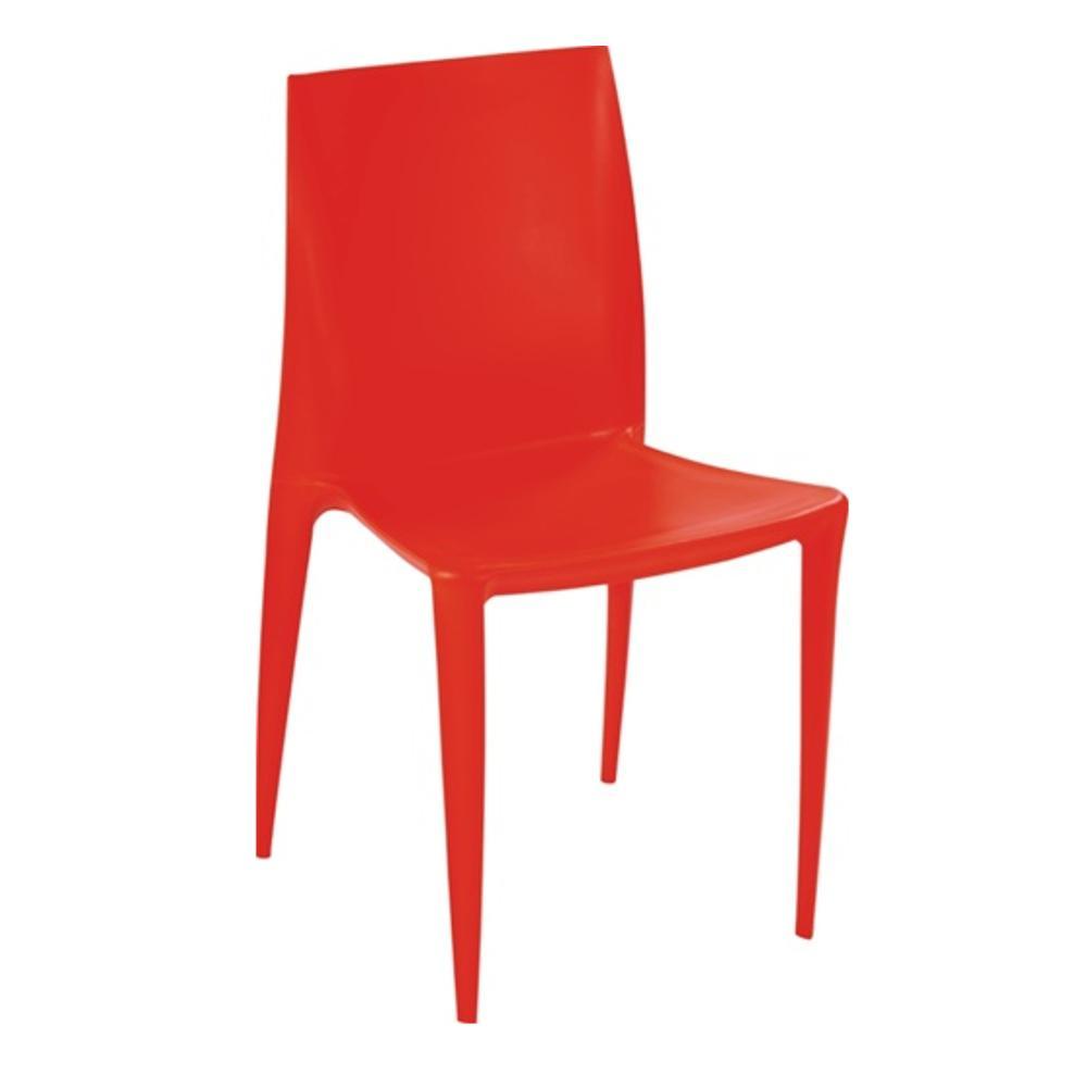 Orange Square Dining Chair