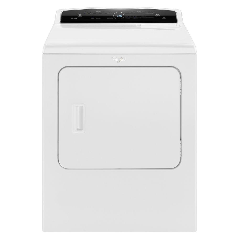 Whirlpool 7.0 cu. ft. 120-Volt High-Efficiency White Gas Vented Dryer with Advanced Moisture Sensing and Intuitive Touch Controls