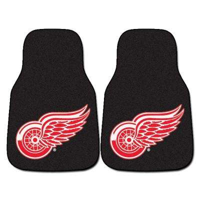 Detroit Red Wings 18 in. x 27 in. 2-Piece Carpeted Car Mat Set