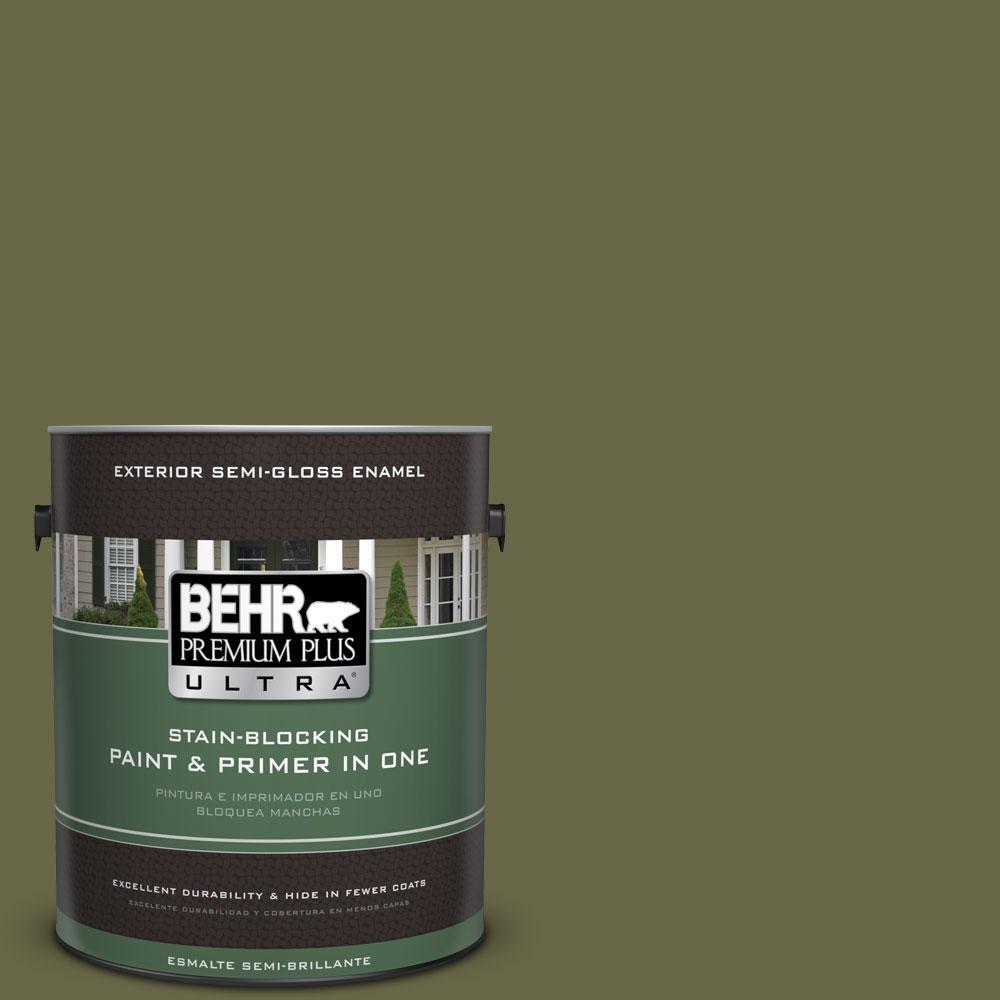 BEHR Premium Plus Ultra 1-gal. #PPU9-24 Amazon Jungle Semi-Gloss Enamel Exterior Paint