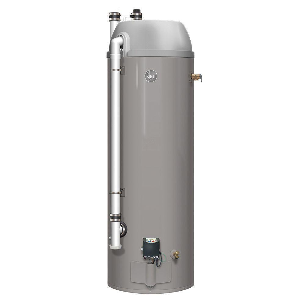 Rheem 48 Gal Tall High Efficiency Liquid Propane Power Direct Vent Water Heater Ecorhe50p The Home Depot