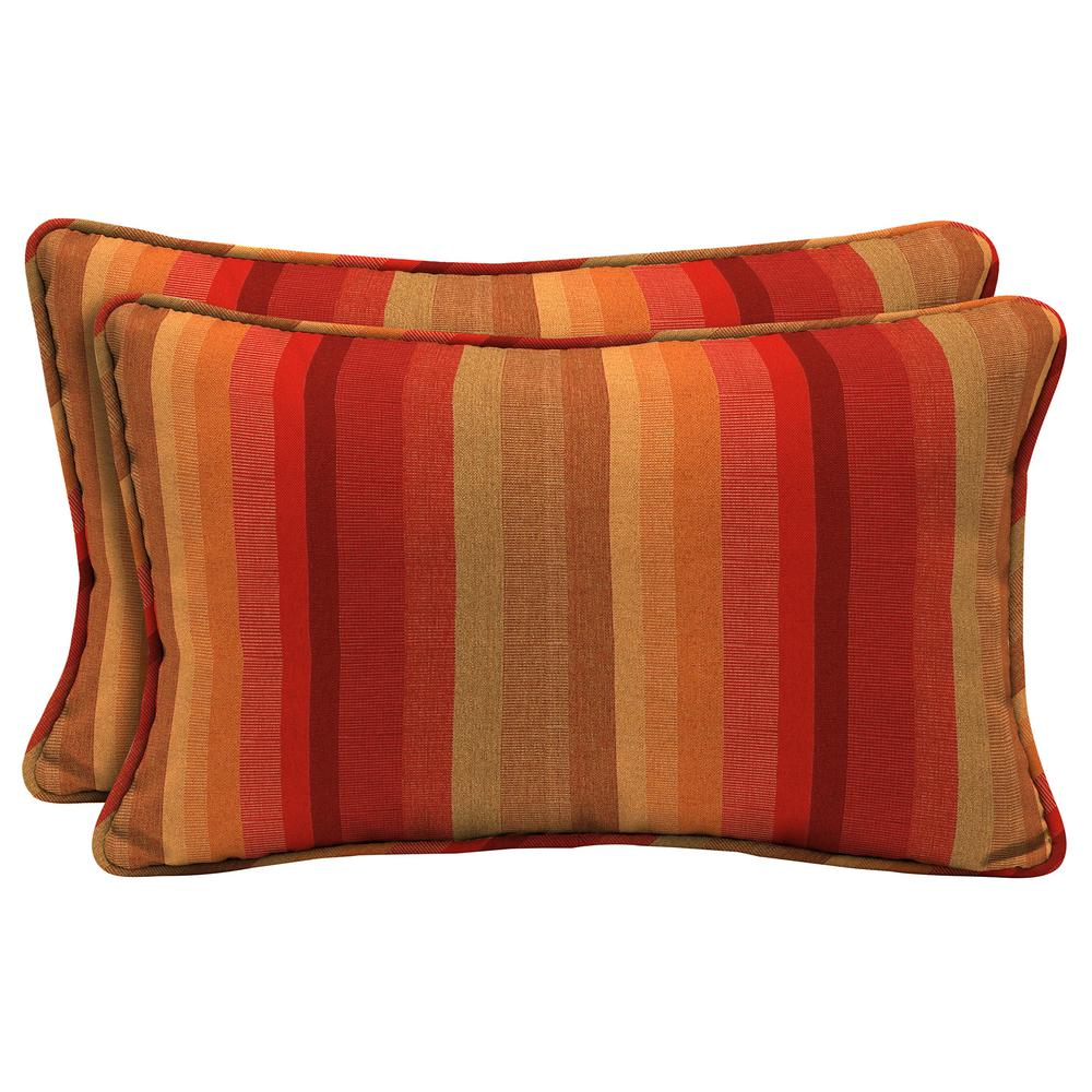 Sunbrella Astoria Sunset Lumbar Outdoor Throw Pillow (2-Pack)