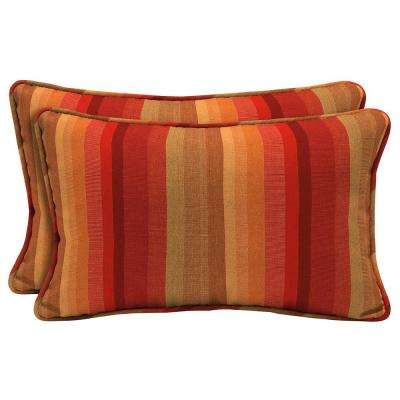 Sunbrella Astoria Sunset Lumbar Outdoor Throw Pillow (2 Pack)