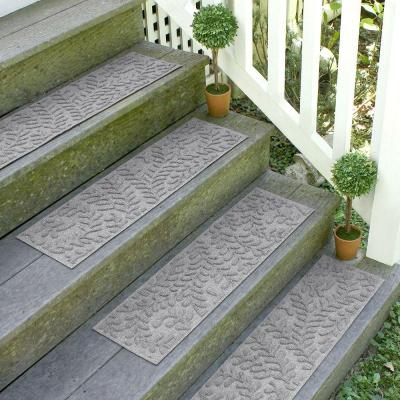 Boxwood 8.5 in. x 30 in. Stair Treads (Set of 4) Medium Gray