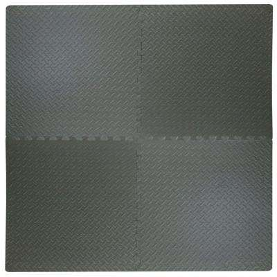 Best Step 24 in. x 24 in. x .47 in. Dark Grey All Purpose Flooring (4-Pack)