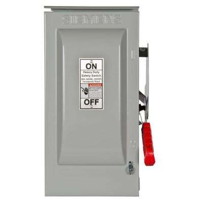 Heavy Duty 30 Amp 240-Volt 2-Pole Outdoor Fusible Safety Switch with Neutral