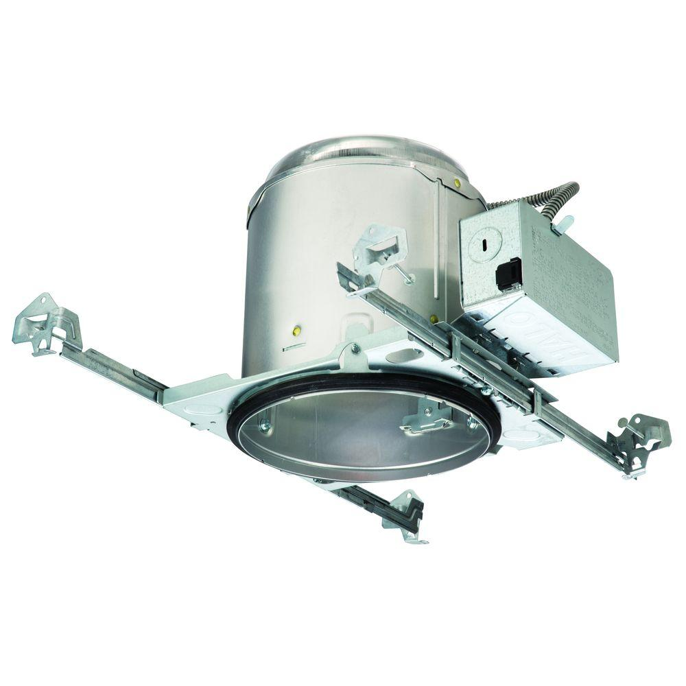 Recessed Lighting Installation Insulated Ceiling : Halo e in aluminum recessed lighting housing for new